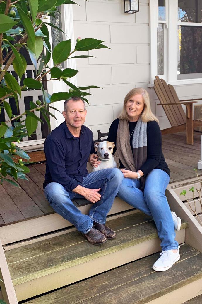 """Lynne Grierson's husband Andrew was an airline pilot until COVID hit, when they left the Mornington Peninsula for West Gippsland. """"We were so lucky to be drawn into a supportive community. They've been so generous with [garden advice](https://www.homestolove.com.au/gardening-for-beginners-10448