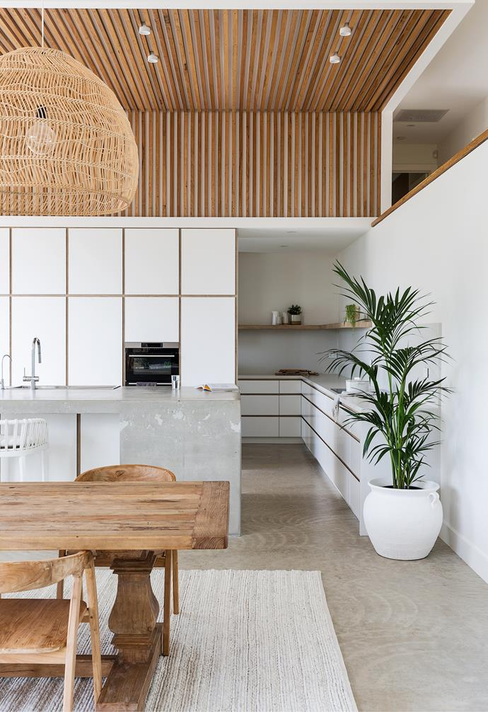 """The couple's love of timber inspired them to use it beautifully and creatively throughout the property. """"We wanted to have that [Balinese villa](https://www.homestolove.com.au/magali-pascal-home-bali-21691