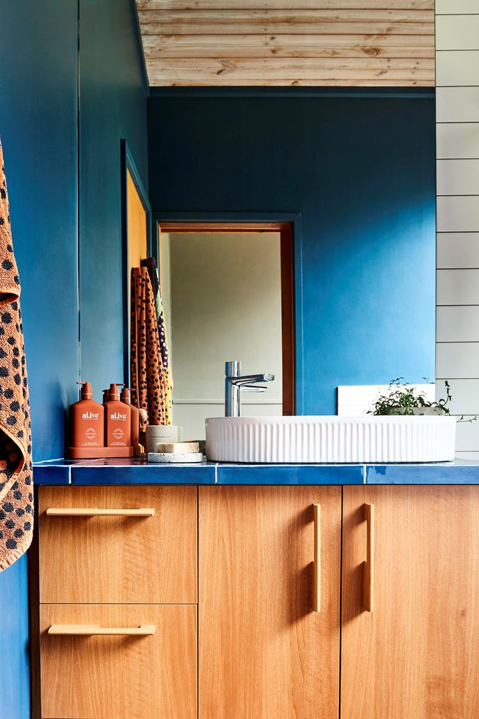 New cabinets and a striking shade of ocean blue on the walls has made all the difference here.