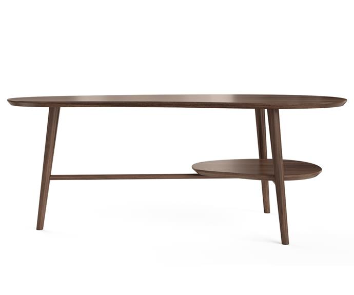 """**Olsen Coffee Table with Shelf, $249, [Brosa](https://www.brosa.com.au/products/olsen-coffee-table-with-shelf?SKU=TBLOLS10COBR