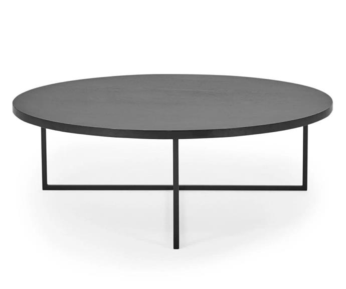"""**Turner Coffee Table, $359, [Lounge Lovers](https://www.loungelovers.com.au/turner-round-coffee-table