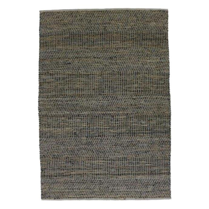 """**Homespun Modern Rug, in Steel, 155x225cm, $339, [Zanui](https://www.zanui.com.au/Homespun-Modern-Rug-Steel-194467.html