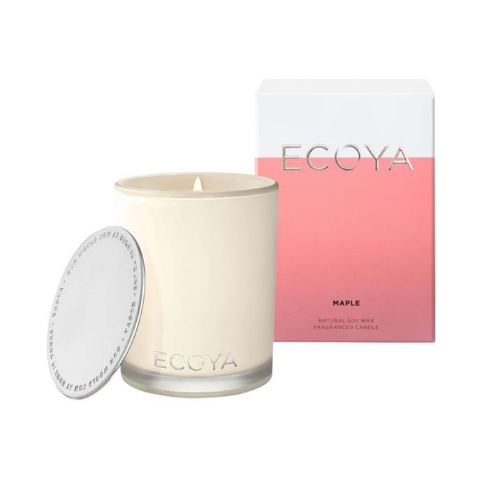 """**Ecoya Maple Madison candle, $42.95, [Myer](https://www.myer.com.au/p/ecoya-maple-madison-candle-826353460-1