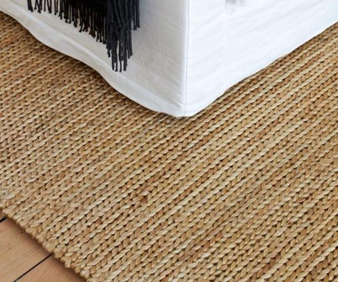 """**Pony Braid jute rug in Natural, 2m x 3m, $2295, [nodi](https://nodirugs.com/products/pony-braid-new?variant=34817087602843