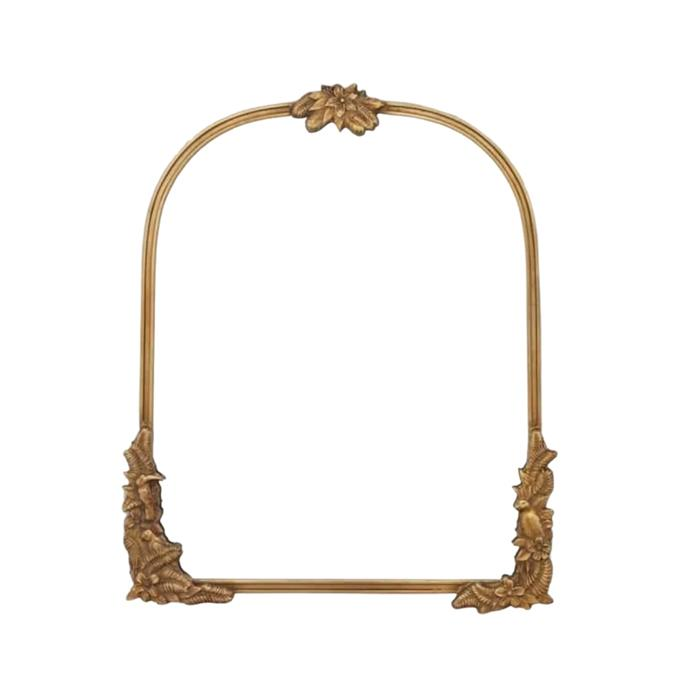 """**Fern Arch Mirror, $624, [RJ Living](https://www.rjliving.com.au/fern-arch-mirror-bronze