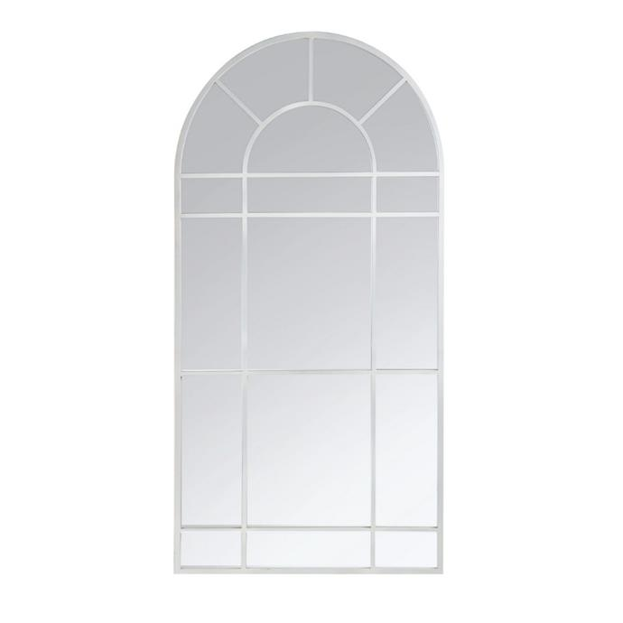 """**Clementine Metal Frame Arch Window, $475, [Living Styles](https://www.livingstyles.com.au/clementine-metal-frame-arch-window-floor-mirror-185cm/