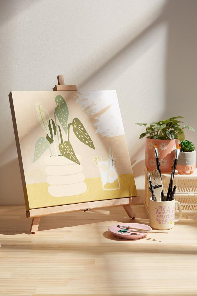 """**['Paint by Numbers' foliage and tonic, $20.99, Typo](https://cottonon.com/AU/paint-by-numbers-40-x-40/1684077-03.html