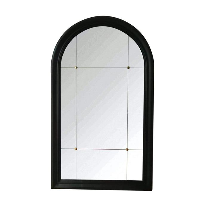 """**Mindy Arched Black Large Wall Mirror, $569, [Shine Mirrors](https://www.shinemirrors.com.au/products/ollie-arched-black-large-wall-mirror?variant=30881720762477
