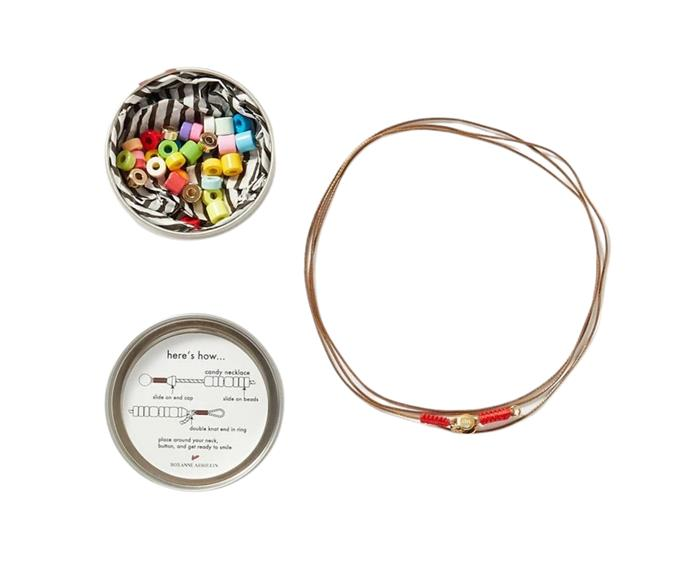"""**[Roxanne Assoulin DIY cord, enamel and gold-tone necklace kit, $188.21, Net-A-Porter](https://www.net-a-porter.com/en-au/shop/product/roxanne-assoulin/jewelry-and-watches/necklaces/candy-diy-cord-enamel-and-gold-tone-necklace-kit/46353151655546134