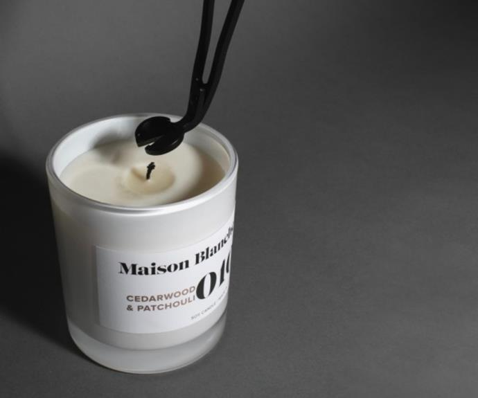 """This matte black candle wick trimmer by Maison Blanche is just $26, and will help you get the most out of your expensive candles. Available at [Hardtofind](https://www.hardtofind.com.au/205547_wick-trimmer