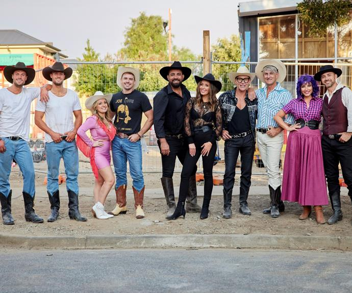 The Block 2021 contestans. L-R: Luke and Josh, Kirsty and Jesse, Ronnie and Georgia, Mitch and Mark, and Tanya and Vito.