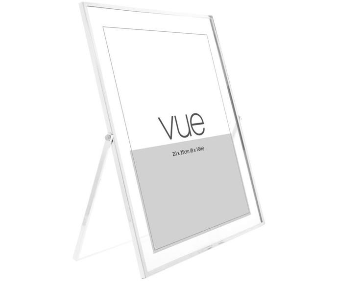 """**Abbie Silver Glass Photo Frame, 20x25cm, $34.95, [Myer](https://www.myer.com.au/p/vue-abbie-silver-glass-photo-frame-20x25cm