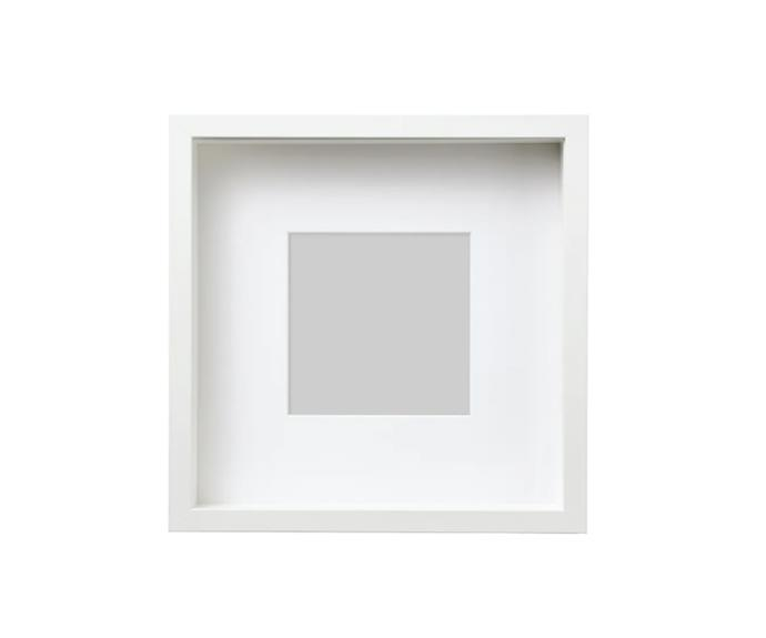 """**Sannahed frame in White, 25x25 cm, $7.99, [IKEA](https://www.ikea.com/au/en/p/sannahed-frame-white-80459122/