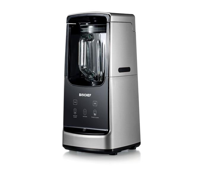 """**[BioChef Astro Vacuum Blender, $375, Vitality4Life](https://www.vitality4life.com.au/biochef-astro-vacuum-blender target=""""_blank"""" rel=""""nofollow"""")**  <br></br> If preserving the integrity of the ingredients you blend is a top concern, consider whether a vacuum blender is right for you. According to BioChef, vacuum seal technology helps preserve the shelf life of your smoothies, the flavour of ingredients and keeps vital nutrients intact. While the claims haven't been independently substantiated, [one consumer test](https://www.consumerreports.org/blenders/is-vacuum-blender-like-ninja-freshvac-better-for-smoothies/ target=""""_blank"""" rel=""""nofollow"""") observed that vacuum blenders tend to produce smoother, less frothy smoothies than standard blenders. Whether or not you believe the marketing hype, there's no denying that BioChef's blender is one considered machine. It features Japanese stainless steel blades and a 750mL Borosilicate jug, so it will stand up to daily use."""