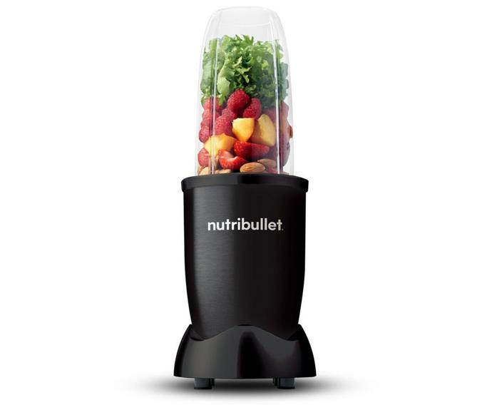 """**[Nutribullet 900W blender megapack black, $99, Myer](https://www.myer.com.au/p/nutribullet-900w-blender-megapack-black-nb9-1107ak target=""""_blank"""" rel=""""nofollow"""")** <br></br>  When it comes to preparing a breakfast smoothie, it's hard to look past the convenience and slimline design of the NutriBullet Blender. Lightweight and easy to clean, this NutriBullet is small but mighty enough to crush ice. Reviews say the unit is a little noisy when in use, but is perfect not just for smoothies but for processing nuts, sauces and homemade dips. For less than $100 you'll also get a bunch of accessories including 2 cups, 1 milling blade, 1 flip top cup lid and so much more. Myer also offers free delivery on items over $49."""