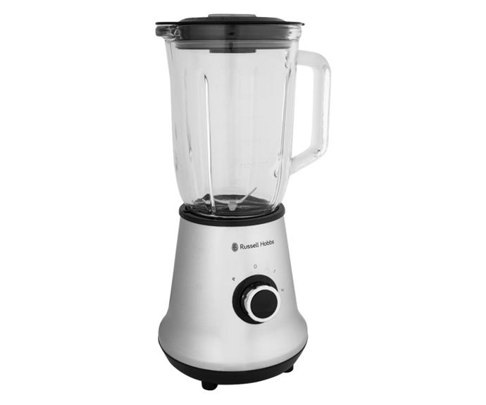 """**[Russell Hobbs classic blender, $39, Catch.com.au](https://www.catch.com.au/product/russell-hobbs-classic-blender-silver-clear-439366 target=""""_blank"""" rel=""""nofollow"""")**  <br></br> Just want a cheap blender that crushes things and gets the job done? This $39 beauty by Russell Hobbs features a 700 watt motor that can cut through ice with ease. Reviews say this blender is great value for money and works exactly as advertised. The only downside is that the blade is attached to the glass jug, so cleaning can be a bit tricky. Not a problem though if you have a dishwasher, as the jug and blades are dishwasher safe. Comes with a 2-year manufacturer warranty."""