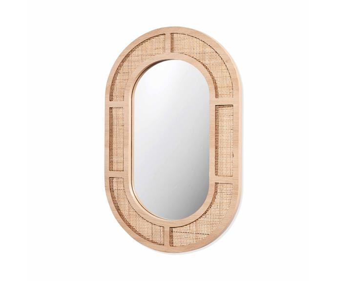 """Mirrors are much more than just a functional item, they're a style statement. This **[rattan oval mirror, $49](https://www.kmart.com.au/product/rattan-oval-mirror/3610802