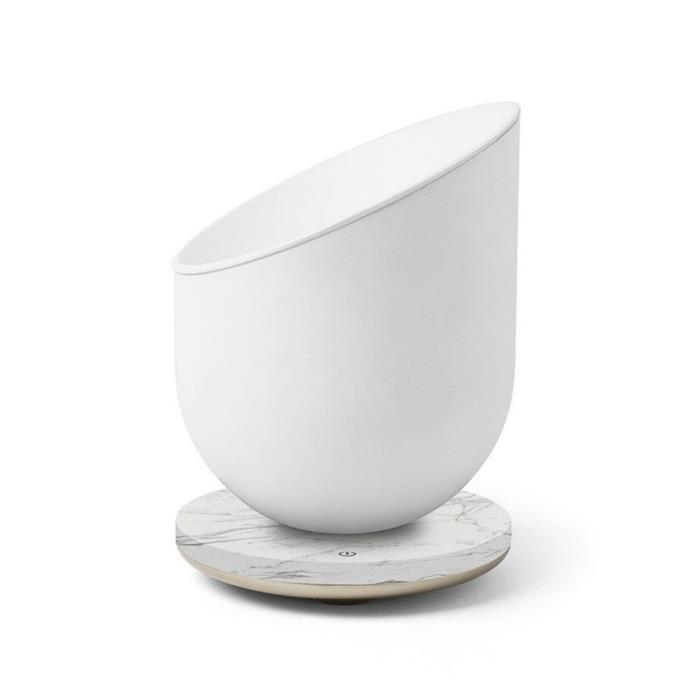 """**LEXON Miami Scent Sensory Oil Burner/Diffuser, $114, [Design Stuff](https://www.designstuff.com.au/product/lexon-miami-scent-sensory-oil-burner-diffuser-usb-chargeable-white-marble/?