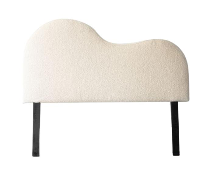 """**[Paris curved boucle bedhead, $1299, Gaudion Furniture](https://www.gaudions.com.au/products/paris-boucle-bedhead