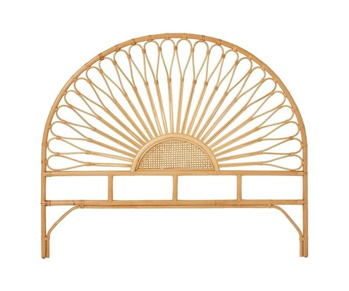 """**[Bahama half moon rattan bed head, $499.99 (King), Adairs](https://www.adairs.com.au/furniture/bedheads/home-republic/bahama-rattan-bedhead-queen-honey/