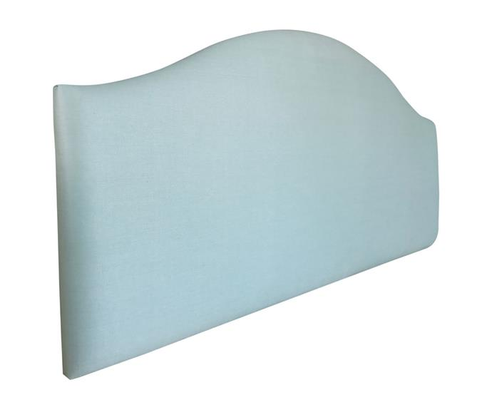 """**[Chambray bed head in seaglass, from $569, Zanui](https://www.zanui.com.au/Chambray-Bed-Head-163162.html
