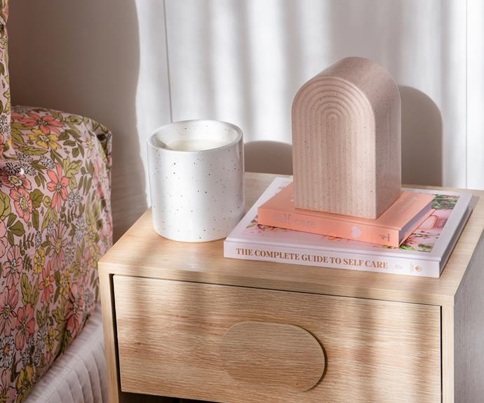 """A clutter-free [bedside table](https://www.homestolove.com.au/bedside-table-styling-tips-16552 target=""""_blank"""") can really elevate the look of your bedroom."""