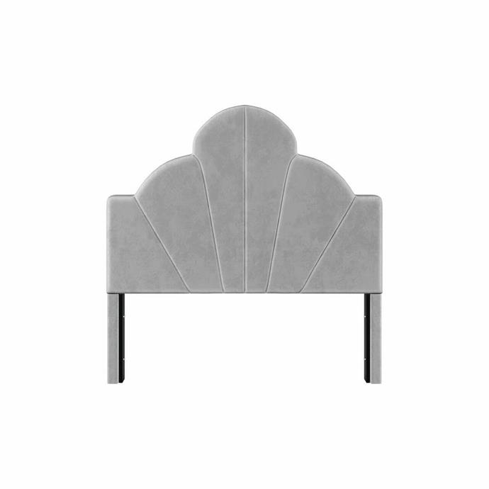 """**Flora Velvet Headboard Double in Grey in $659, [Luxo Living](https://www.luxoliving.com.au/flora-velvet-headboard-grey