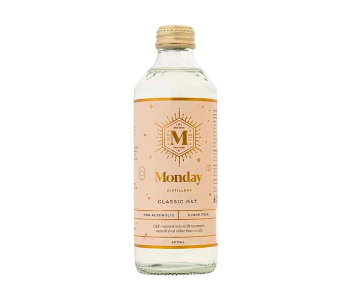 """**[Monday Distillery Classic non-alcoholic gin & tonic, 4 x 300ml bottles, $19.99, Craft Zero](https://www.craftzero.com.au/products/monday-classic-non-alcoholic-g-t-300ml?variant=35995540816022
