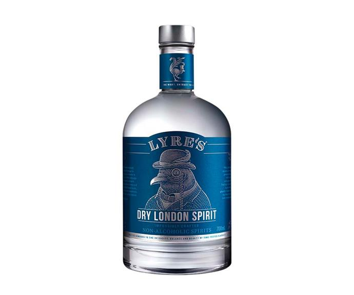 """**[Dry London non-alcoholic spirit, $44.99 for 700ml, Lyre's](https://lyres.com.au/range/dry-london-spirit/?gclid=CjwKCAjwjJmIBhA4EiwAQdCbxmpcraydk0hUGs9H816CrDSbcU4vX8rmqHKVyANFT5gXXg_UxxscFxoCSpUQAvD_BwE
