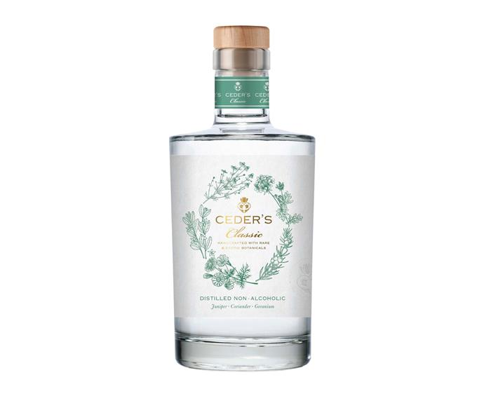 """**[Ceder's Classic non-alcoholic gin, $47.99 for 500ml, Liquorland](https://www.liquorland.com.au/spirits/ceders-wild-500ml_3678533?store=3690&cid=LL:cpcggl:Generic%7cLiquorland%7cLocalInventory-HighTierProducts%7cAUS%7cBroad&gclid=CjwKCAjwjJmIBhA4EiwAQdCbxuNoDwOuYtq76xZ-nVMa--AhauLlI4xh7eCc0_W4K-uFQLVkaQ5OwhoC1v0QAvD_BwE&gclsrc=aw.ds