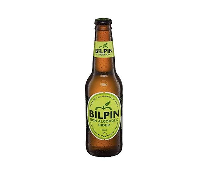 """**[Bilpin Cider Co. Non Alcoholic Cider, $22.09 for pack of 6 330ml bottles, $22.09, Booze Bud](https://www.boozebud.com/p/bilpinciderco/nonalcoholiccider