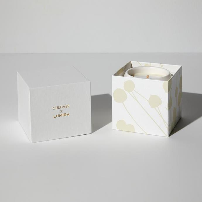 """**CULTIVER x LUMIRA Candle, $80, [Cultiver](https://cultiver.com.au/products/cultiver-lumira-candle