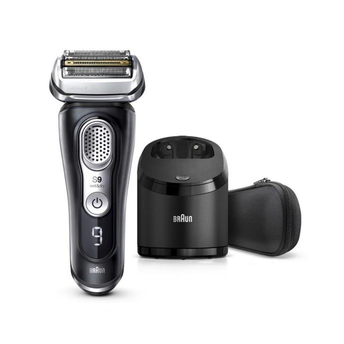"""**Braun Wet and Dry Electric Shaver, $449, [Shaver Shop](https://www.shavershop.com.au/braun/series-9--latest-generation-wet--and-dry-electric-shaver-with-clean-andcharge-station-and-fabric-travel-case-010458.html