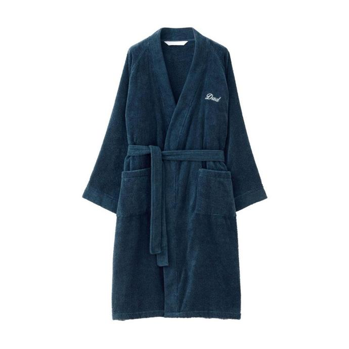 """**Sheridan Dideon 'Dad' Robe In Prussian, $159, [Myer](https://www.myer.com.au/p/sheridan-dideon-dad-robe-in-prussian?