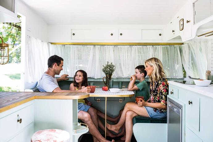 """There's room for all inside, with a cosy [breakfast nook](https://www.homestolove.com.au/breakfast-nook-transformation-21274