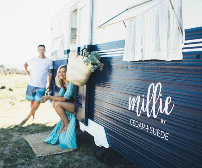 A rich blue was used to paint the exterior of Millie, making it perfect for a coastal holiday.