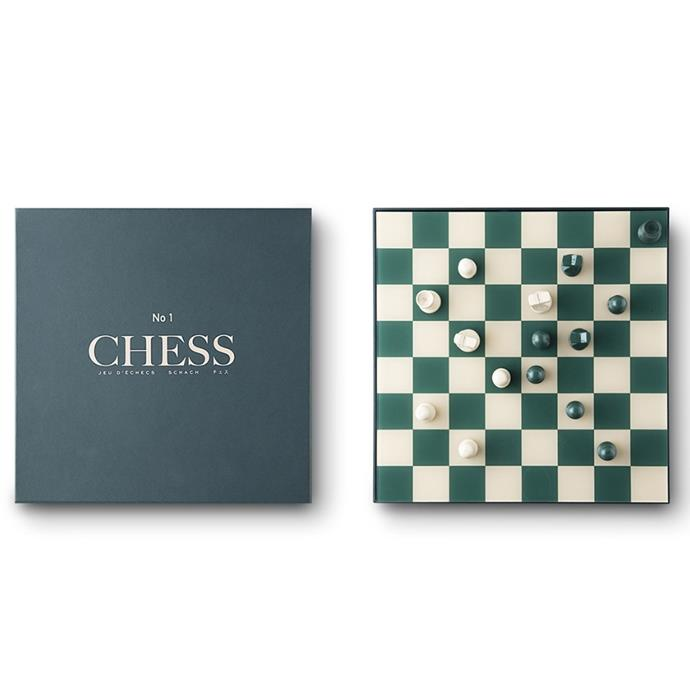 """**PRINTWORKS Classic Board Games Chess, $69, [Design Stuff](https://www.designstuff.com.au/product/printworks-classic-board-games-chess/