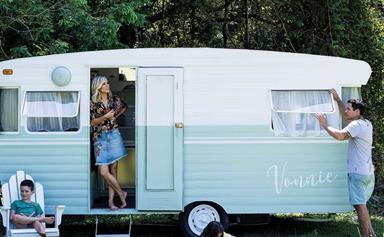 Before and after: A vintage caravan renovation