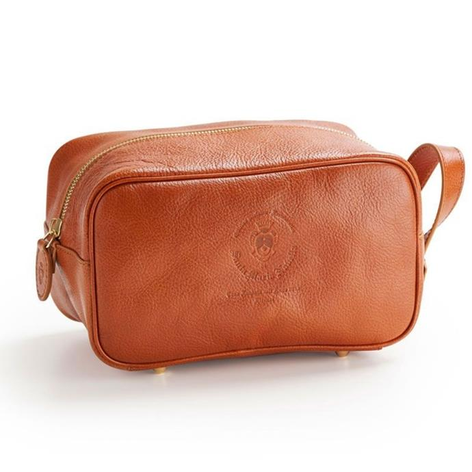 """**Leather Toiletry Bag, $270, [Santa Maria Novella](https://buy.smnovella.com.au/7013084.html