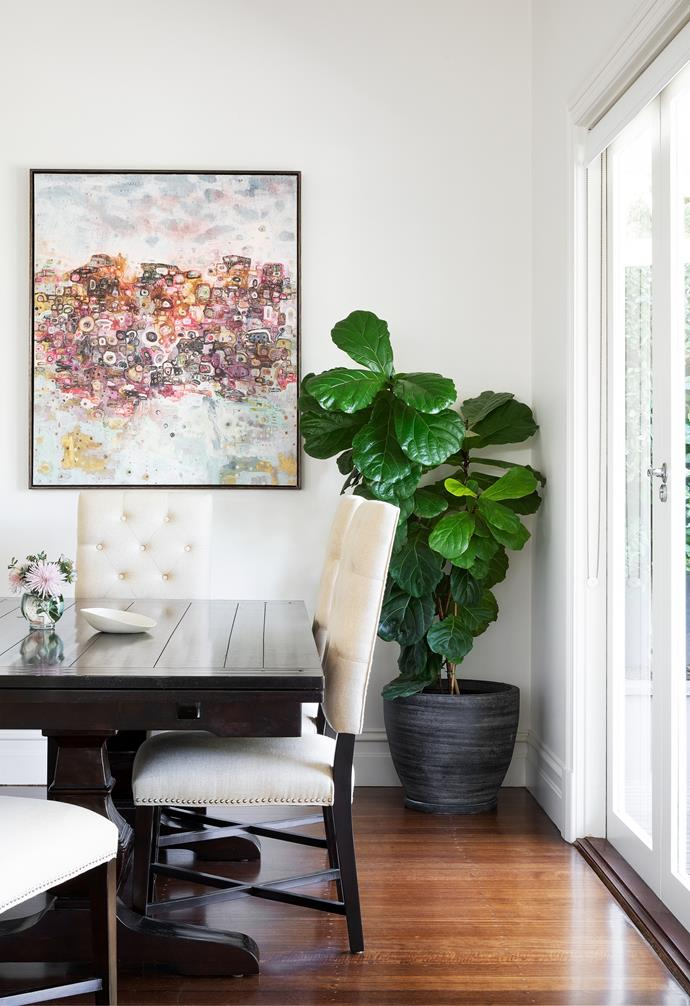 """After more than a decade spent renovating homes and having to leave them, Vicki decided she would only fill this one with things the family truly loved. """"The [dining table](https://www.homestolove.com.au/10-of-the-best-dining-tables-13249