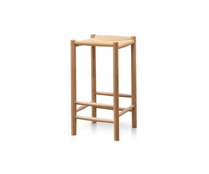 "**4.** Erika 65cm Rattan Bar Stool in Natural, $220, [Interior Secrets](https://www.interiorsecrets.com.au/products/erika-65cm-oak-bar-stool-natural-seat?variant=31206700679279|target=""_blank""|rel=""nofollow"")."