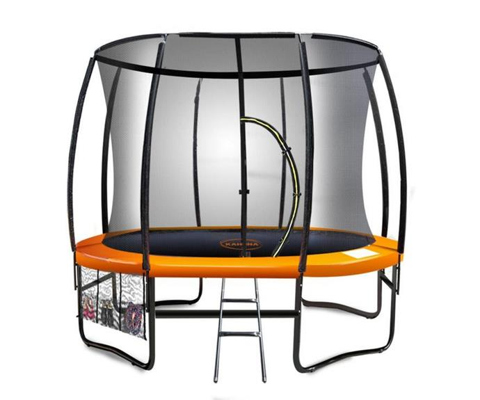 """**[Kahuna 2.44 round trampoline, $449, Decathlon](https://decathlon.com.au/products/kahuna-8ft-244-m-classic-trampoline