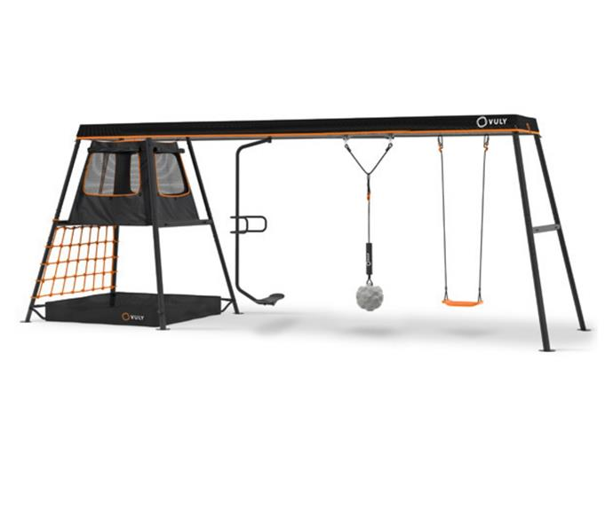 """**[360 Pro Max swing set, $1829, Vuly](https://www.vulyplay.com/en-AU/swingsets/max/92