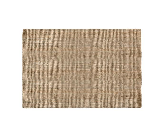 """Like many Californian homes, Meghan and Harry's home favours a natural floor covering. In her home office, she's chosen and hardy and summer-ready sisal rug. This similar Freedom rug is crafted from jute, making it ideal for laid-back living.   **MADRAS Floor Rug, 120cm x 180cm, $299.97, [Freedom](https://www.freedom.com.au/product/23842847 target=""""_blank"""" rel=""""nofollow"""").**"""