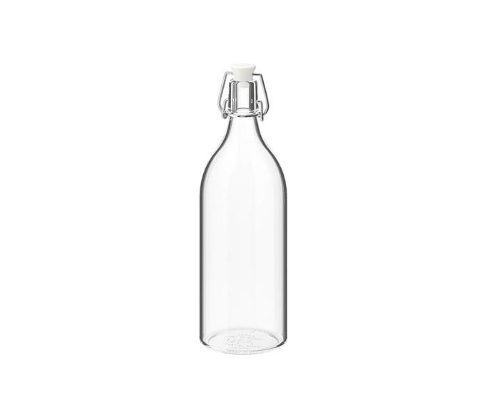 """Stay hydrated like Meghan with a bottle of water always at hand. We love her simple choice of a glass bottle with a stopper on her desk.   **KORKEN Bottle with stopper, clear glass1, $2.49, [IKEA](https://www.ikea.com/au/en/p/korken-bottle-with-stopper-clear-glass-00213558/ target=""""_blank"""" rel=""""nofollow"""").**"""