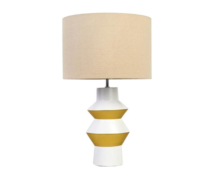 """No luxury bedroom retreat is complete without a stylish lamp. Neale's **[Bemboka natural ceramic lamp, $249.99](https://www.house.com.au/neale-whitaker-bemboka-natural-ceramic-lamp target=""""_blank"""" rel=""""nofollow"""")** features a contemporary base with a neutral pop of colour."""
