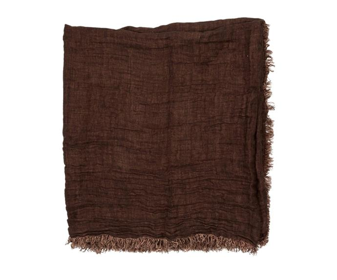 """It won't be long before you're storing away your winter throw rugs and opting for a lighter option. The **[linen throw, $239.99](https://www.house.com.au/neale-whitaker-linen-throw-burrow target=""""_blank"""" rel=""""nofollow"""")** in shade 'Burrow' will be your new spring styling favourite."""