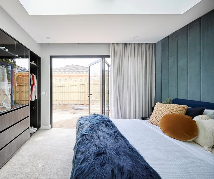 """Josh and Luke's decision to install bi-fold doors was praised by the judges. The glass-front wardrobes, however, were divisive. Bedding from [Freedom](https://www.freedom.com.au/