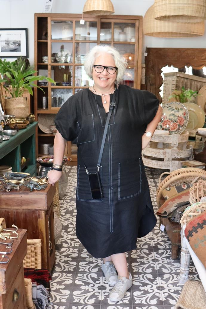 Owner of Merchant Campbell, Margot Shannon in her Yass store.