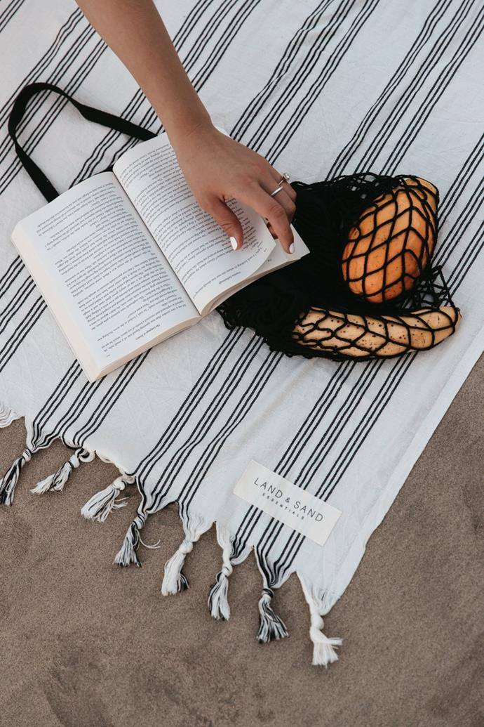 """**Cotton Towel in Crete, $59.95, [Land and Sand Essentials](https://www.landandsandessentials.com.au/collections/cotton-towels/products/cotton-towel-corfu target=""""_blank"""" rel=""""nofollow"""")**  Turkish towels have been trending for a while now, and it doesn't look like they're going anywhere soon.  Land and Sea Essentials' Cotton Towel is everything we love about the minimal and lightweight style of towel - with a little tassel for extra style points."""